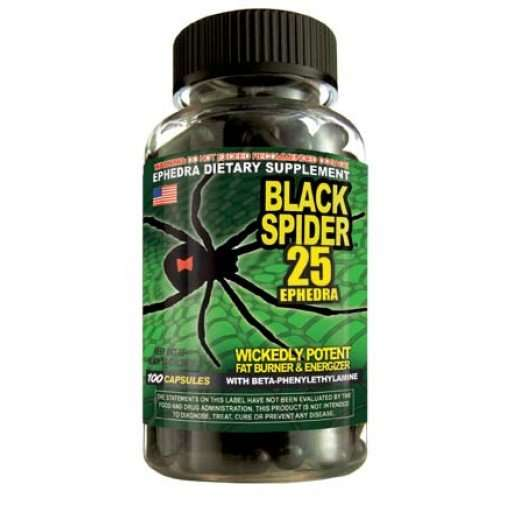 www.oms99.in BLACK SPIDER 25 EPHEDRA 100capsules / WICKEDLY POTENT FAT BURNER & ENERGIZER 100capsules - CLOMA PHARMA