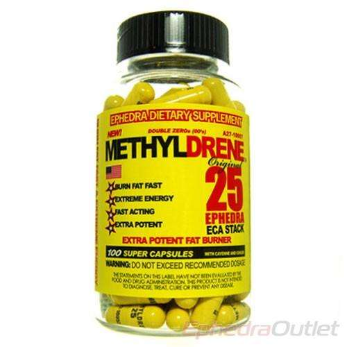 METHYDRENE 25 EPHEDRA ECA STACK 100capsules / EXTRA POTENT FAT BURNER 100capsules - CLOMA PHARMA online muscle store