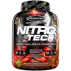 NITROTECH PERFORMANCE SERIES 4lbs / WHEY PEPTIDES & ISOLATE PRIMARY SOURCE 4lbs - MUSCLE TECH online muscle store99
