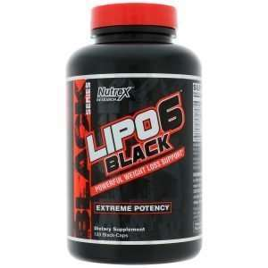 BLACK SERIES LIPO 6 BLACK EXTREME POTENCY FAT BURNER 120capsules / POWERFUL WEIGHT LOSS SUPPORT 120capsules - NUTREX