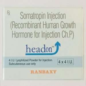 SOMATROPIN HEADON 4X4i.u. INJECTION / RECOMBINANT HUMAN GROWTH HORMONE FOR INJECTION CH.P 4X4i.u. - RANBAXY online muscle store