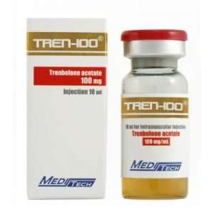 TREN-100 10ml 100mg TRENBOLONE ACETATE 100mg 10ml - MEDITECH www.oms99.in
