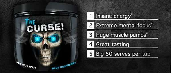THE CURSE 50servings / PRE WORKOUT 50servings - COBRA LABS www.oms99.in