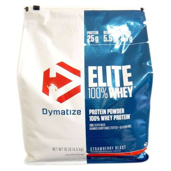 DYMATIZE ELITE 100% WHEY PROTEIN POWDER 10lb 126 SERVINGS BANNED SUBSTANCE TESTED+GLUTEN FREE 10lb - DYMATIZE www.oms99.in