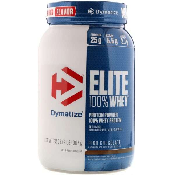 DYMATIZE ELITE 100% WHEY PROTEIN POWDER 2lb 25 SERVINGS BANNED SUBSTANCE TESTED GLUTEN FREE 2lb - DYMATIZE www.oms99.in