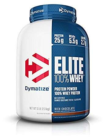 DYMATIZE ELITE 100% WHEY PROTEIN POWDER 5lb 63 SERVINGS BANNED SUBSTANCE TESTED+GLUTEN FREE 5lb - DYMATIZE www.oms99.in