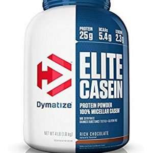 DYMATIZE ELITE CASEIN PROTEIN POWDER 100% MICELLAR CASEIN 4lbs 50 SERVINGS BANNED SUBSTANCE TESTED GLUTEN FREE 4lbs - DYMATIZE www.oms99.in