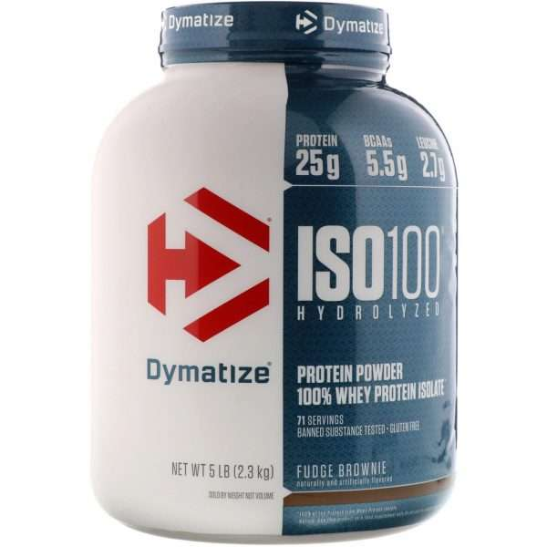 DYMATIZE ISO 100 HYDROLYZED PROTEIN POWDER 100% WHEY PROTEIN ISOLATE 5lbs 71 SERVINGS BANNED SUBSTANCE TESTED GLUTEN FREE 5lbs - DYMATIZE www.oms99.in