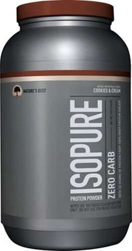 ISO PURE PROTEIN POWDER ZERO CARB 3lb WITH 50 GRAMS OF PROTEIN FROM 100% WHEY PROTEIN ISOLATE 3lb - NATURE'S BEST