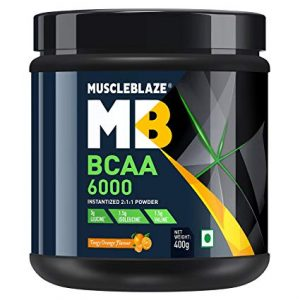 MUSCLEBLAZE BCAA 6000 400gm INSTANTIZED 211 POWDER 400gm - MB www.oms99.in