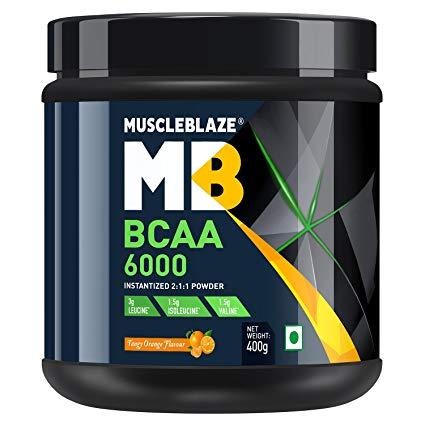 MUSCLEBLAZE BCAA 6000 400gm INSTANTIZED 211 POWDER 400gm - MB www.oms99.in