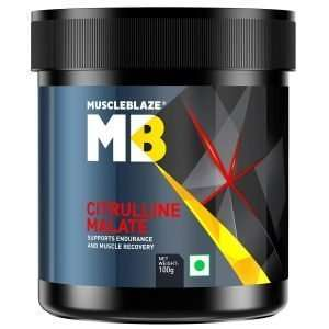 MUSCLEBLAZE CITRULLINE MALATE PRE WORKOUT 100gm SUPPORTS ENDURANCE AND MUSCLE RECOVERY 100gm - MB www.oms99.in