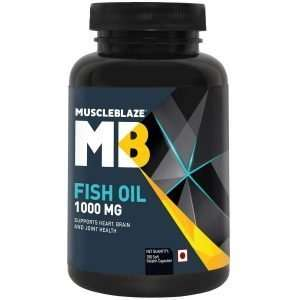 MUSCLEBLAZE FISH OIL 1000mg SUPPORTS HEART, BRAIN & JOINT HEALTH 1000mg - MB www.oms99.in