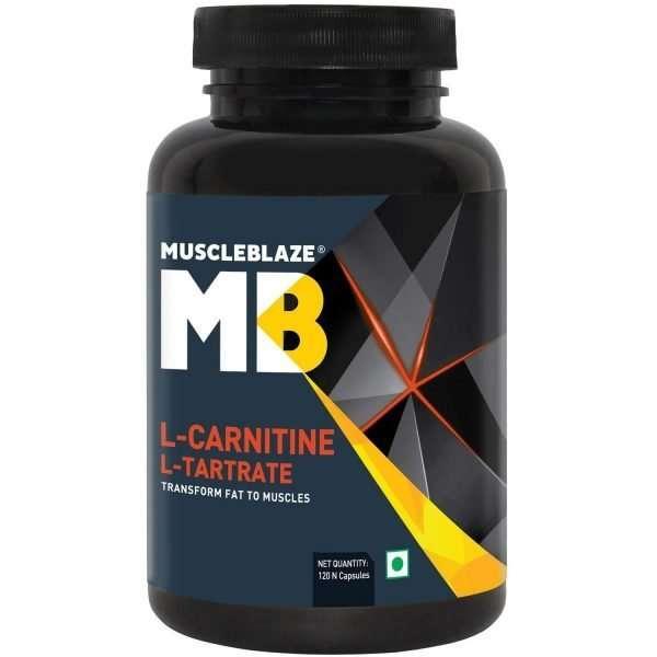 MUSCLEBLAZE L-CARNITINE L-TARTRATE 120capsules TRANSFORM FAT TO MUSCLES 120capsules - MB