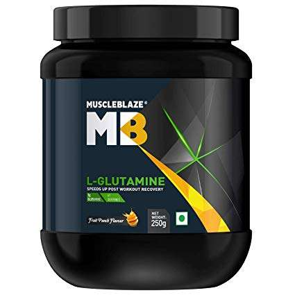 MUSCLEBLAZE L-GLUTAMINE 250gm SPEEDS UP POST WORKOUT RECOVERY 250gm - MB www.oms99.in