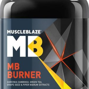 MUSCLEBLAZE MB BURNER 90capsules GARCINIA CAMBOGIA, GREEN TEA, GRAPE SEED & PIPER NIGRUM EXTRACTS 90capsules - MB www.oms99.in