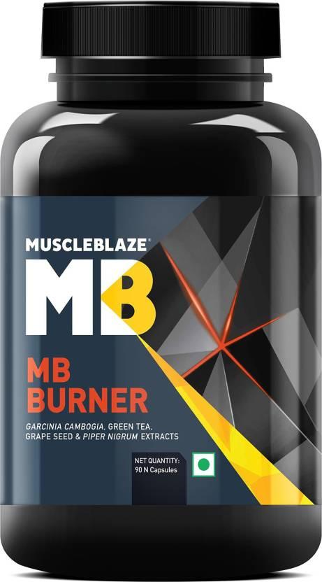 MUSCLEBLAZE MB BURNER 90capsules GARCINIA CAMBOGIA, GREEN TEA, GRAPE SEED & PIPER NIGRUM EXTRACTS 90capsules - MB www.oms99.in
