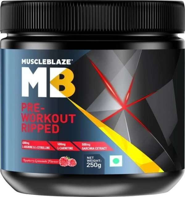MUSCLEBLAZE PRE-WORKOUT RIPPED 250gm - MB www.oms99.in