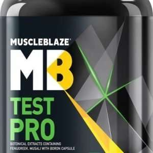 MUSCLEBLAZE TEST PRO 60capsules BOTONICAL EXTRACTS CONTAINING FENUGREEK MUSALI WITH BORON CAPSULE 60capsules - MB www.oms99.in