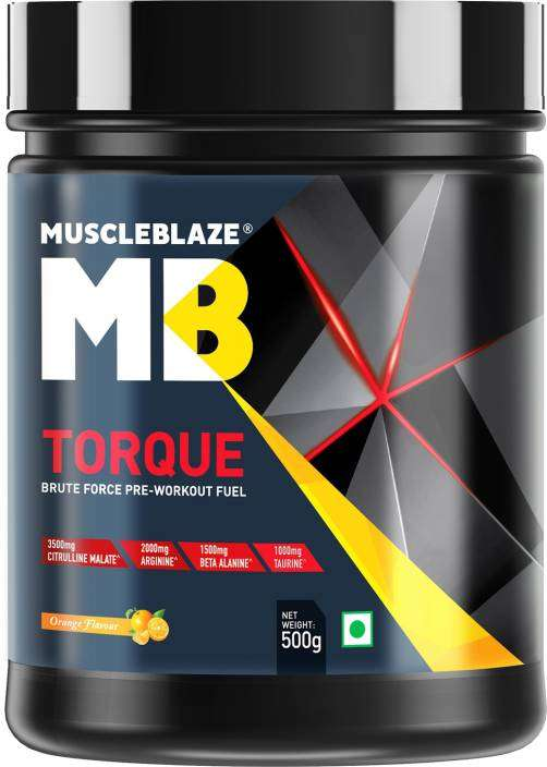 MUSCLEBLAZE TORQUE PRE-WORKOUT 500gm BRUTE FORCE PRE-WORKOUT FUEL 500gm - MB www.oms99.in