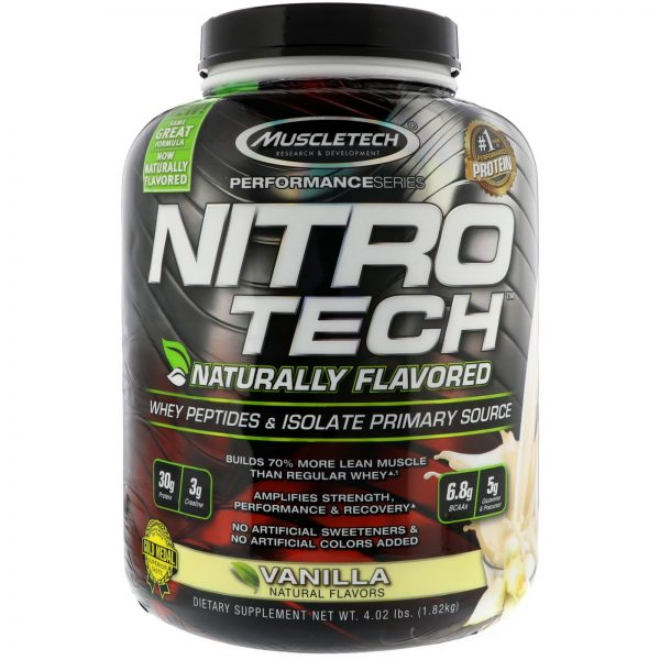 MUSCLETECH PERFORMANCE SERIES NITRO TECH NATURALLY FLAVORED 4.02lbs WHET PEPTIDES & ISOLATE PRIMARY SOURCE 4.02lbs - MUSCLETECH www.oms99.in