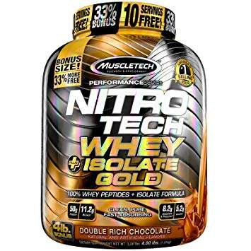 MUSCLETECH PERFORMANCE SERIES NITROTECH WHEY PLUS ISOLATE GOLD 4lbs 100% WHEY PEPTIDES ISOLATE FORMULA 4lbs - MUSCLETECH www.oms99.in