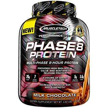 MUSCLETECH PERFORMANCE SERIES PHASE 8 PROTEIN POWDER 4.6lbs MULTI PHASE 8 HOUR PROTEIN 4.6lbs - MUSCLETECH www.oms99.in