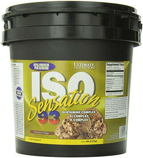 ULTIMATE NUTRITION ISO SENSATION 93 5lb 93% PROTEIN PER SERVING 5lb - ULTIMATE NUTRITION www.oms99.in