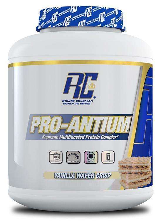 ronnie-coleman-signature-series-protein-vanilla-wafer-crisp-pro-antium-RC PRO-ANTIUM PROTEIN POWDER 5lbs SUPREME MULTIFACETED PROTEIN COMPLEX 5lbs - RC www.oms99.in