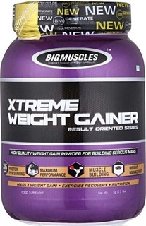 BIG MUSCLES XTREME WEIGHT GAINER RESULT ORIENTED SERIES 6lb HIGH QUALITY WEIGHT GAIN POWDER FOR BUILDING SERIOUS MASS 6lb - BIG MUSCLES www.oms99.in