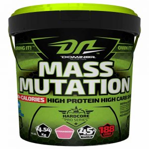 DOMIN8R MASS MUTATION 10lb HIGH PROTEIN HIGH CARB SHAKE 11lb - DOMIN8R NUTRITION www.oms99.in