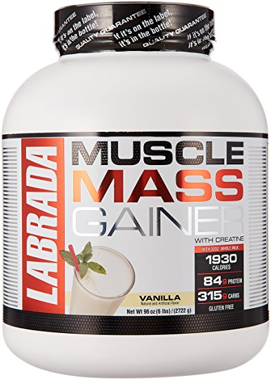 LABRADA MUSCLE MASS GAINER WITH CREATINE 6lb DIETARY SUPPLEMENT 6lb - LABRADA NUTRITION www.oms99.in