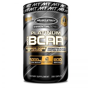 MUSCLETECH ESSENTIAL SERIES PLATINUM 100% BCAA 811 200caplets - MUSCLETECH www.oms99.in