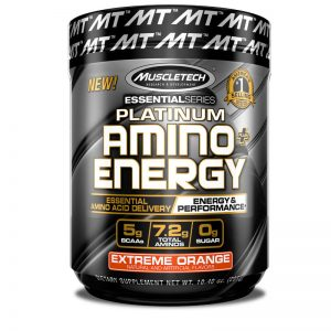 MUSCLETECH ESSENTIAL SERIES PLATINUM AMINO ENERGY 317gm ESSENTIAL AMINO ACID DELIVERY ENERGY & PERFORMANCE 317gm - MUSCLETECH www.oms99.in