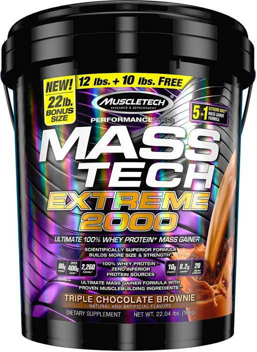 MUSCLETECH PERFORMANCE SERIES MASS TECH EXTREME 2000 22lb ULTIMATE 100% WHEY PROTEIN MASS GAINER 22lb - MUSCLETECH www.oms99.in