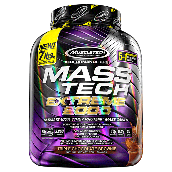 MUSCLETECH PERFORMANCE SERIES MASS TECH EXTREME 2000 7lb ULTIMATE 100% WHEY PROTEIN MASS GAINER 7lb - MUSCLETECH www.oms99.in