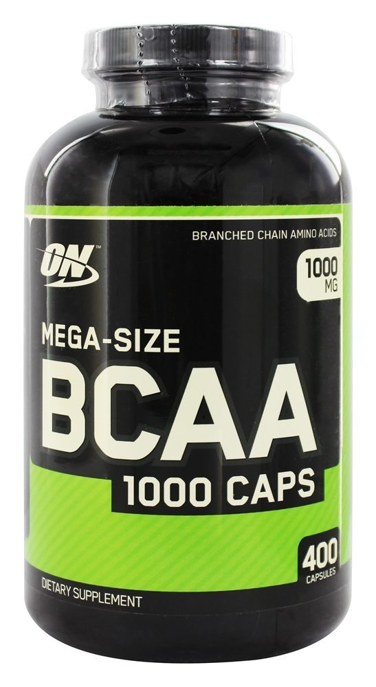 ON MEGA SIZE BCAA 1000 CAPS 400capsules - OPTIMUM NUTRITION www.oms99.in