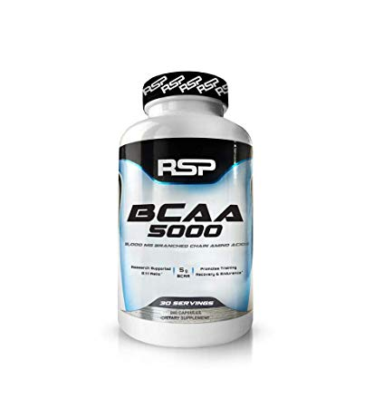 RSP BCAA 5000 240capsules 5000 MG BRANCHED CHAIN AMINO ACID 240capsules - RSP NUTRITION www.oms99.in