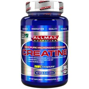 ALLMAX NUTRITION CREATINE 100gm 100% PURE MICRONIZED GERMAN CREATINE 100gm - ALLMAX NUTRITION www.oms99.in