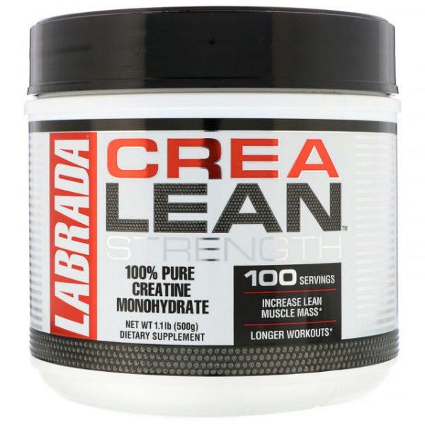 LABRADA CREA LEAN STRENGTH 500gm 100% PURE CREATINE MONOHYDRATE 500gm - LABRADA NUTRITION www.oms99.in