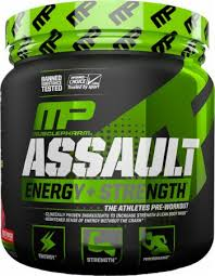 MP ASSAULT ENERGY + STRENGTH THE ATHLETES PRE WORKOUT 345gm - MUSCLEPHARMA www.oms99.in