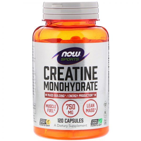 NOW SPORTS CREATINE MONOHYDRATE 120capsules MASS BUILDING ENERGY PRODUCTION 120capsules - NOW FOODS www.oms99.in