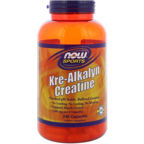 NOW SPORTS KRE-ALKALYN CREATINE 240capsules - NOW FOODS www.oms99.in