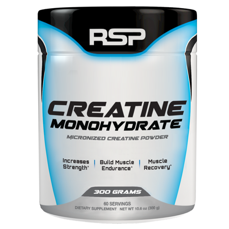 RSP NUTRITION CREATINE MONOHYDRATE 300gm MICRONIZED CREATINE POWDER 300gm - RSP NUTRITION www.oms99.in