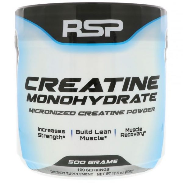 RSP NUTRITION CREATINE MONOHYDRATE 500gm MICRONIZED CREATINE POWDER 500gm - RSP NUTRITION www.oms99.in
