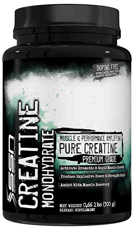 SSN CREATINE MONOHYDRATE 300gm MUSCLE & PERFORMANCE AMPLIFYING PURE CREATINE PREMIUM GRADE 300gm - SSN NUTRITION www.oms99.in