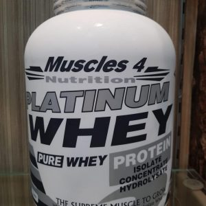 MUSCLES 4 NUTRITION PLATINUM WHEY PURE WHEY PROTEIN 5lb - MUSCLES 4 NUTRITION www.oms99.in