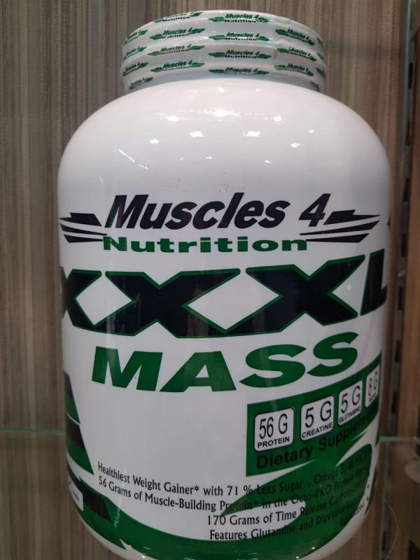 MUSCLES 4 NUTRITION XXXL MASS GAINER 6lb - MUSCLES 4 NUTRITION www.oms99.in