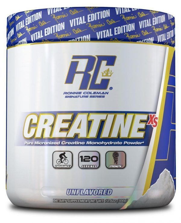 RC CREATINE XS 300gm PURE MICRONIZED CREATINE MONOHYDRATE POWDER 300gm - RONNIE COLEMAN www.oms99.in