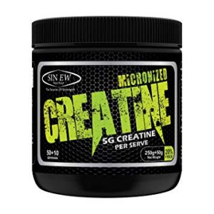 SINEW NUTRITION MICRONIZED CREATINE 5G CREATINE PER SERVE 300gm - SINEW NUTRITION www.oms.in